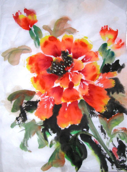 Chinese painting- Peonies
